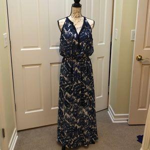 Maxi dress with short skirt under.